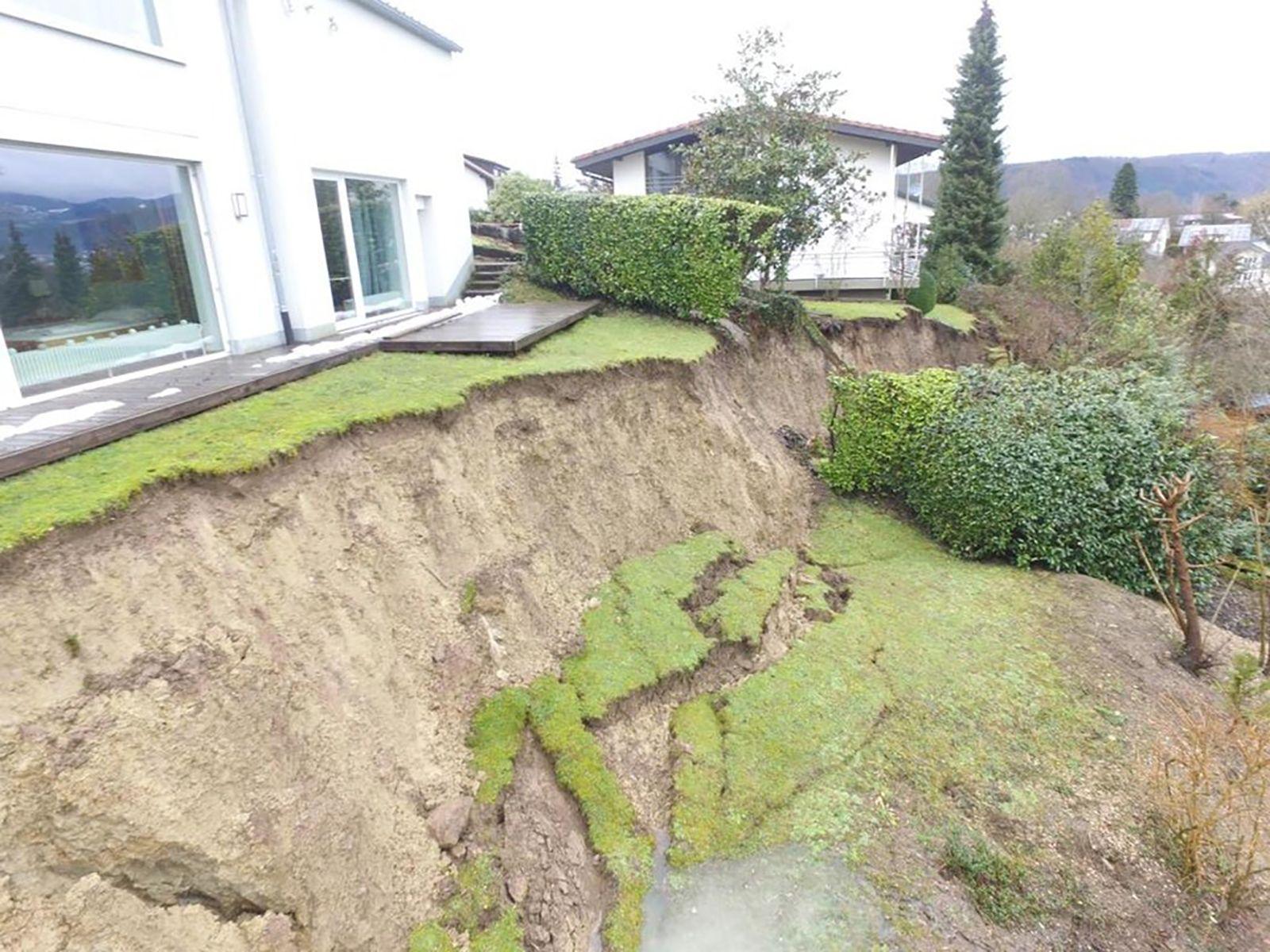 Erdrutsch in Schopfheim