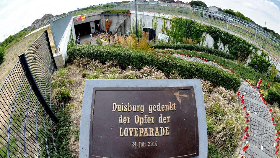 Gedenkstein am Unglücksort in Duisburg