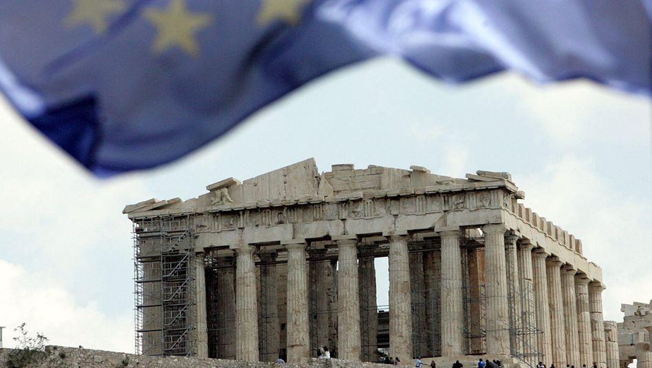 Europaflagge über der Akropolis: Wie lange weht sie noch?