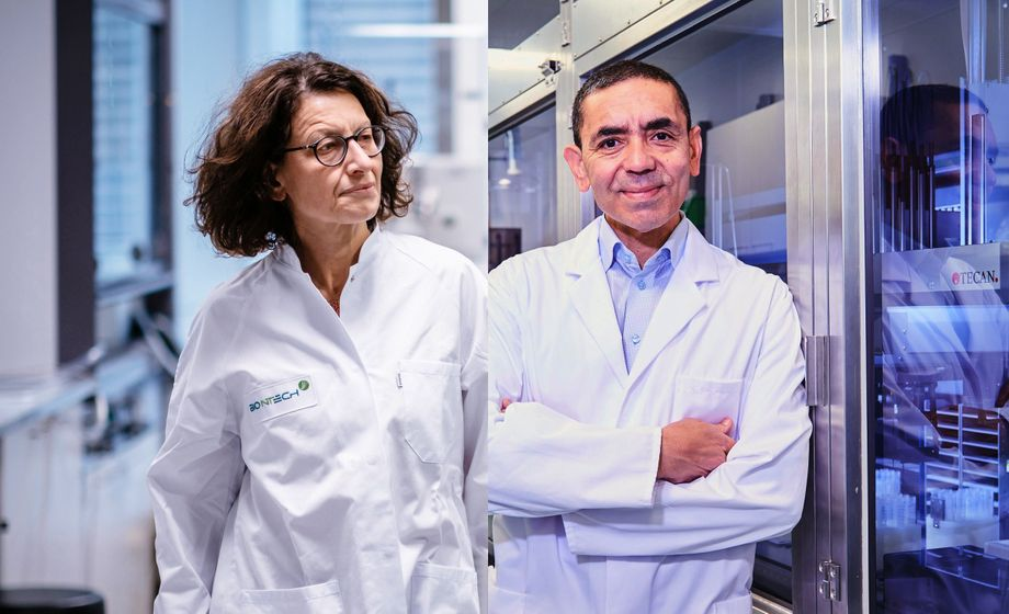 "BioNTech heads Özlem Türeci and Uğur Şahi: ""We are well on our way."""