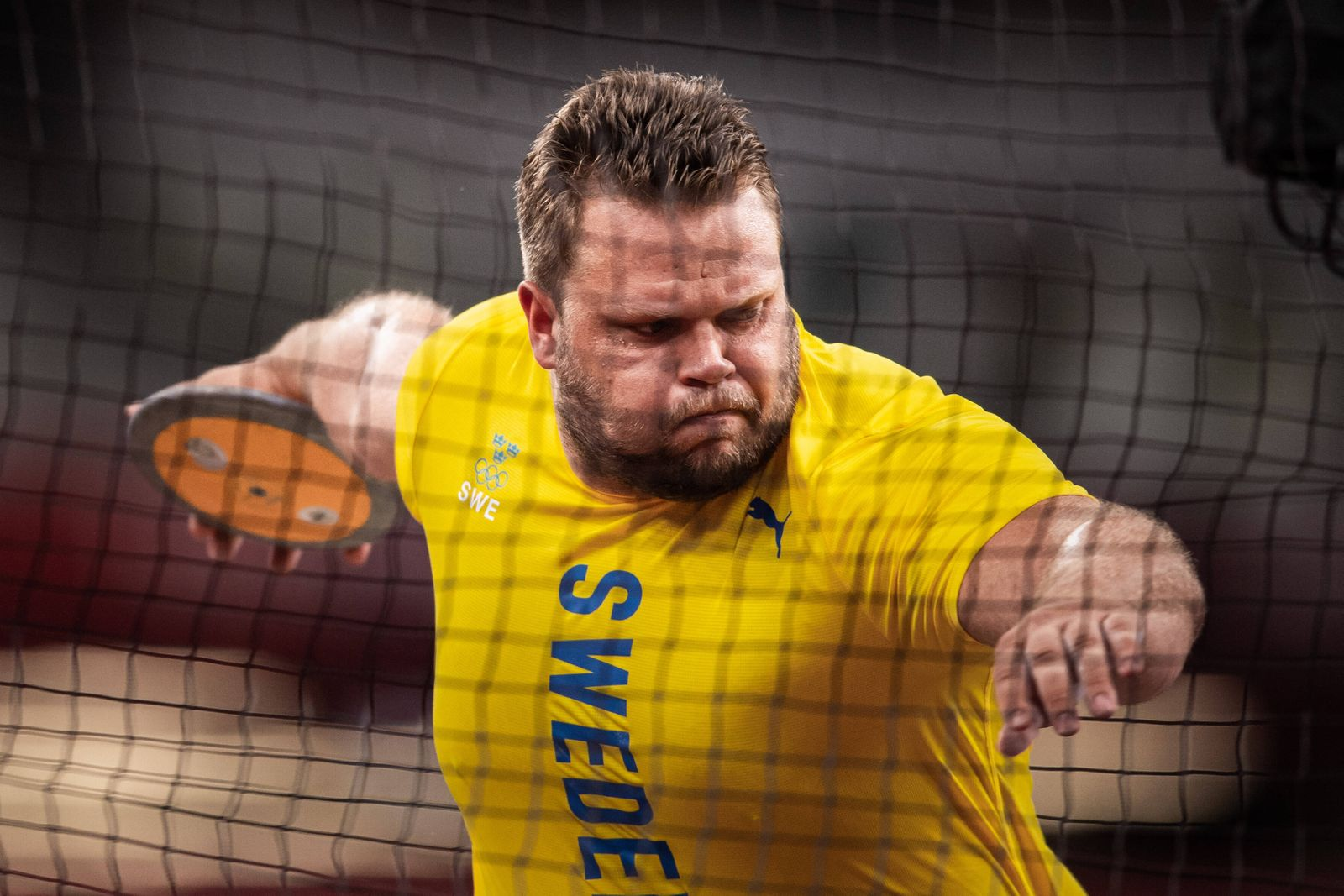 """210731 Daniel Stahl of Sweden competes in men""""!s discus throw final during day 8 of the Tokyo 2020 Olympic Games, Olympi"""