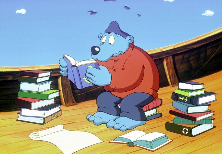 Dem zwanghaften Lügner Käpt'n Blaubär leiht Wolfgang Völz seine Stimme.