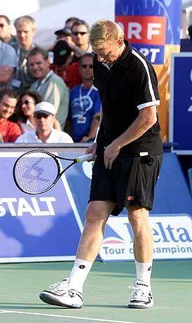 """Boris Becker kurz vor der Aufgabe: """"Bis dahin immerhin gutes Tennis"""""""
