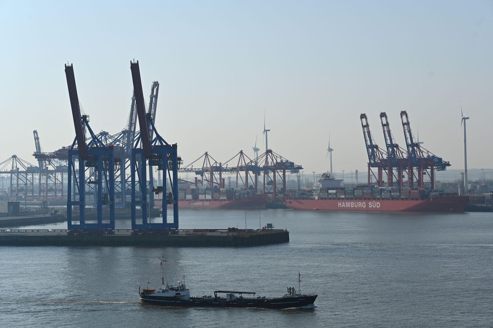 Hamburg Port As Fears Rise Over Global Economic Recession Due To coronavirus (COVID-19) pandemic