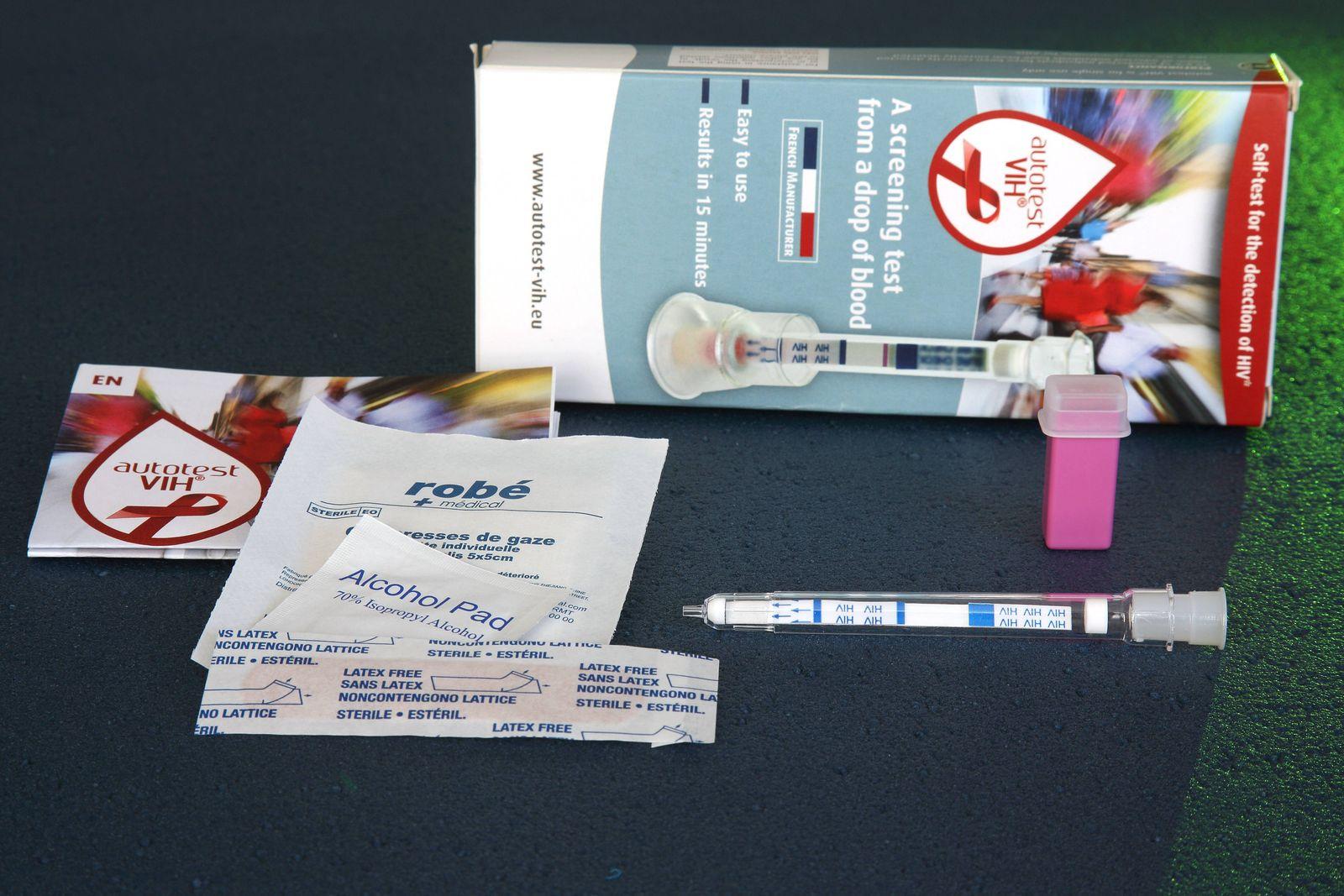EINMALIGE VERWENDUNG aids selbsttest