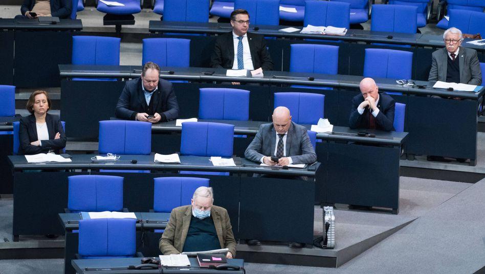 Die AfD-Fraktion im Bundestag stimmte gegen das neue Gesetz (Bild vom 26. Februar)
