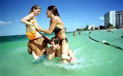 Badevergnügen in Cancun: Zeit zum Relaxen finden nur wenige