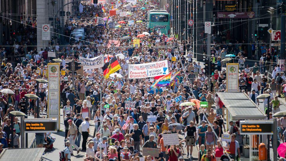 »Querdenken«-Demo am 01. August 2020