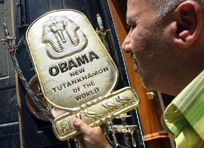 Souvenirshop in Kairo wirbt mit Obama-Besuch: Das Image der US-Führung hat sich verbessert