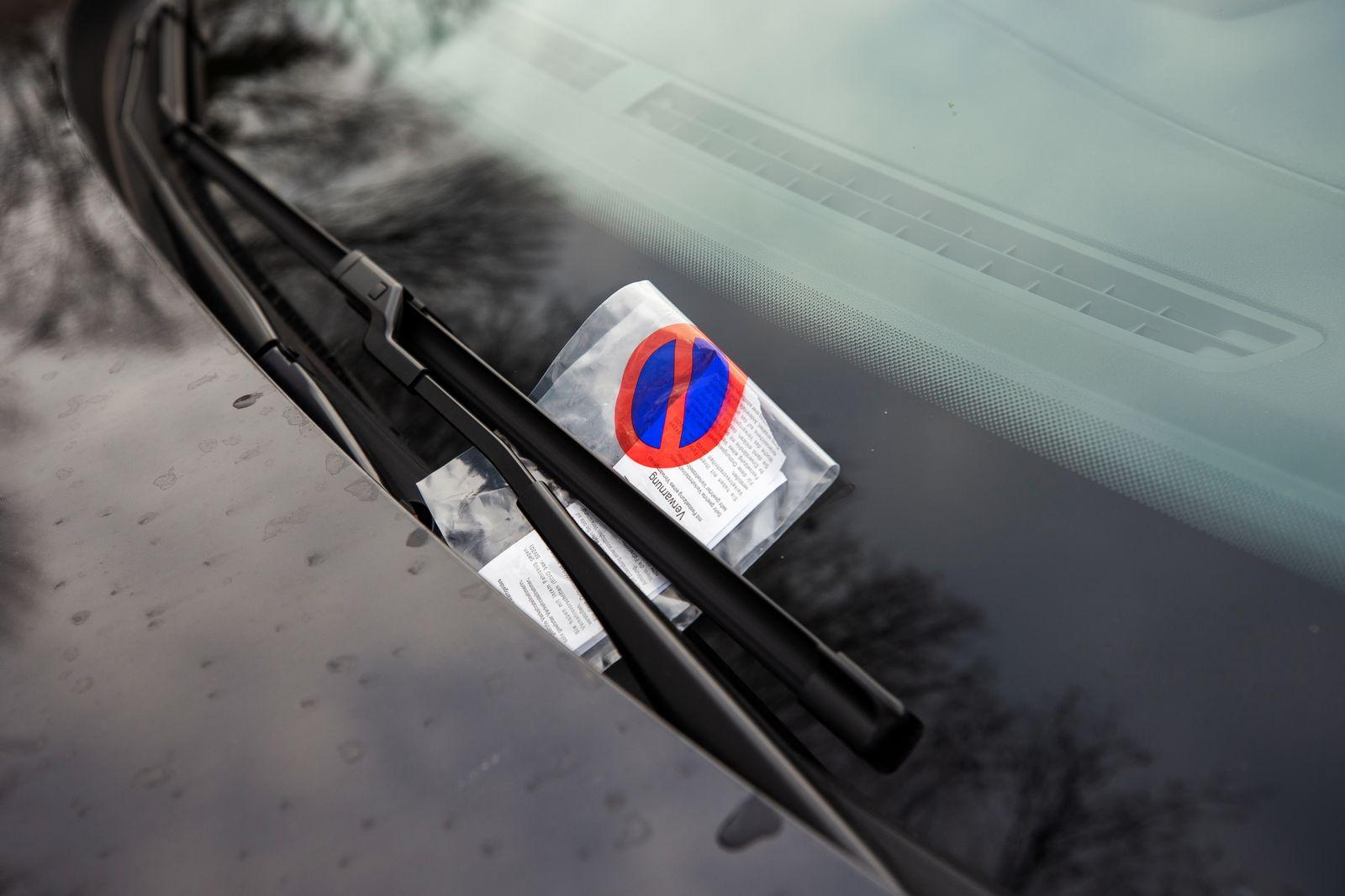 Verwarnung wegen Falschparken