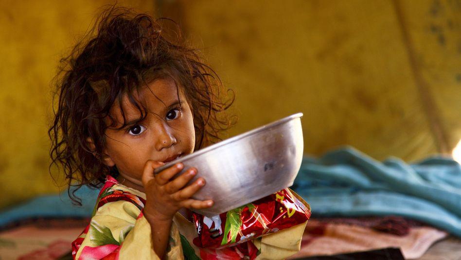 Flüchtlingskind im Jemen
