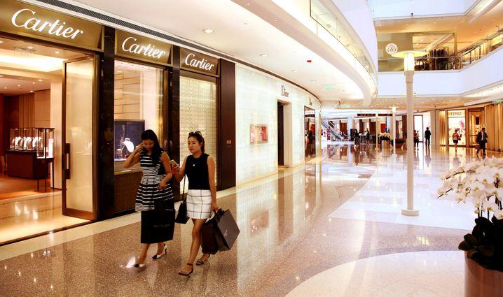 Chinesische Luxusgeschäfte: Ein Viertel des globalen Finanzvermögens liegt in Asien