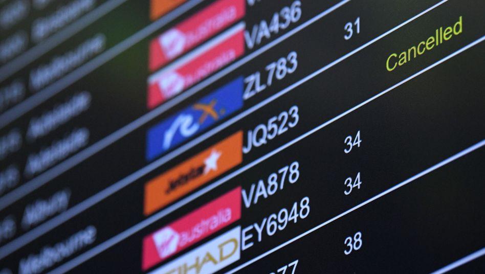 Die meisten Beschwerden gab es wegen annullierter Flüge