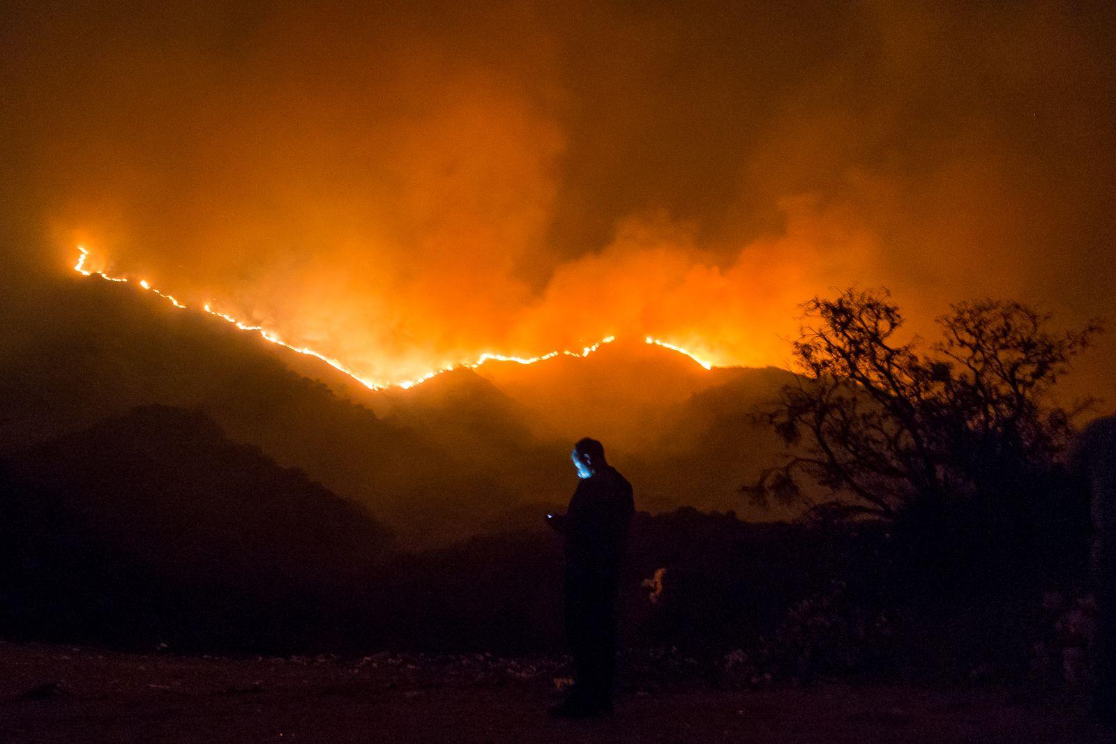 Raging Wildfires in Cordoba