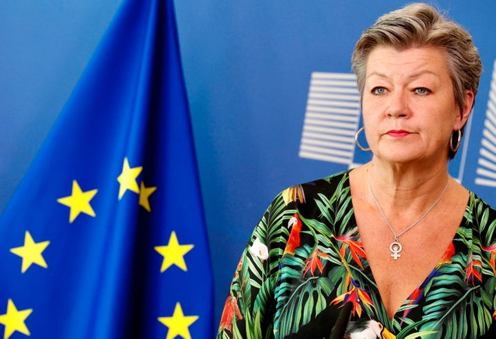 """European Commissioner Ylva Johansson: """"Serious concerns"""""""
