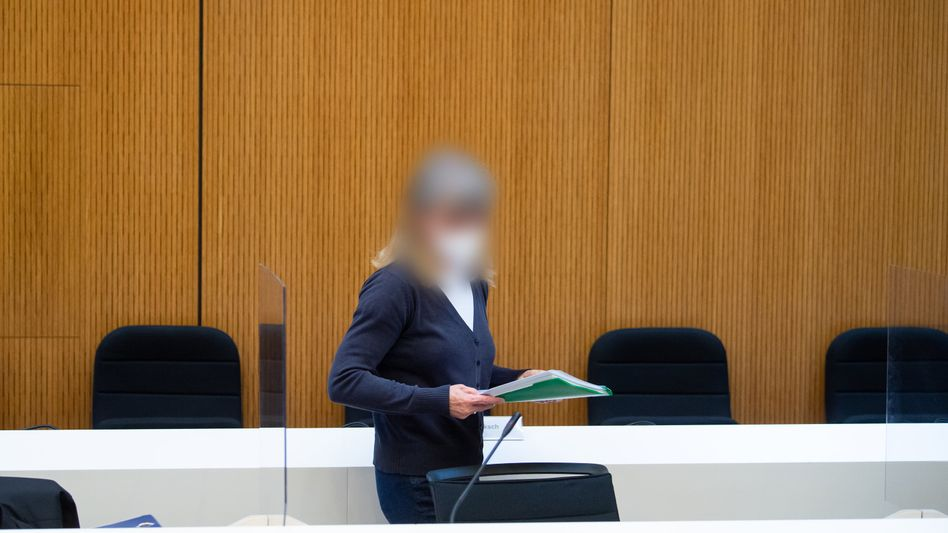 Angeklagte Susanne G. im Oberlandesgericht München