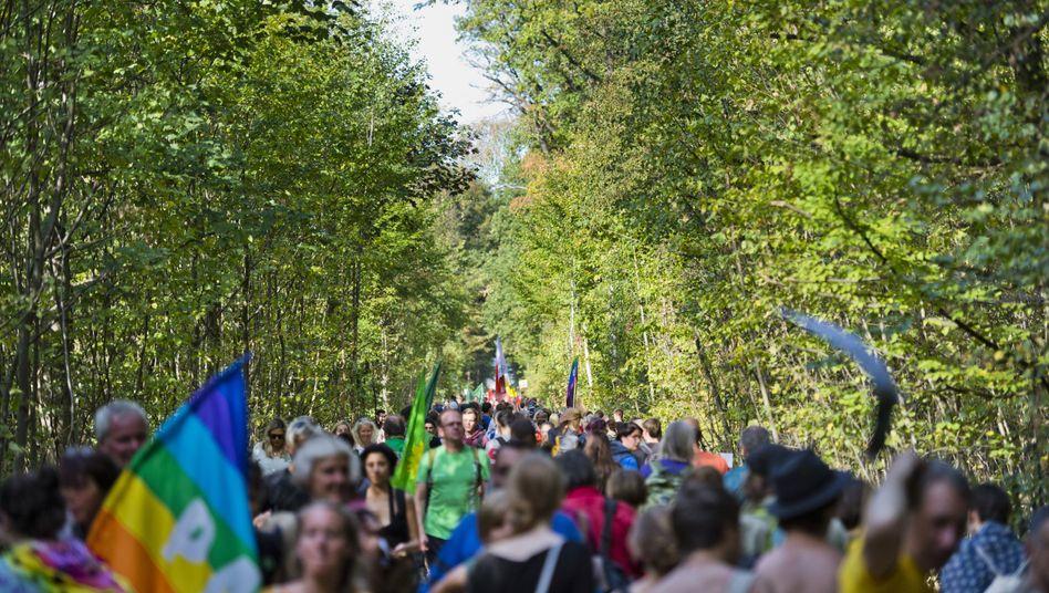 Demonstranten am Hambacher Forst