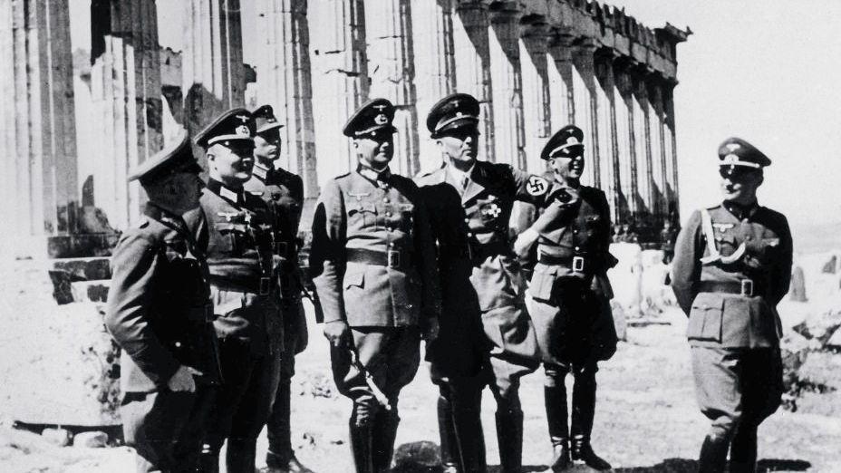 Deutsche Offiziere auf der Akropolis 1941