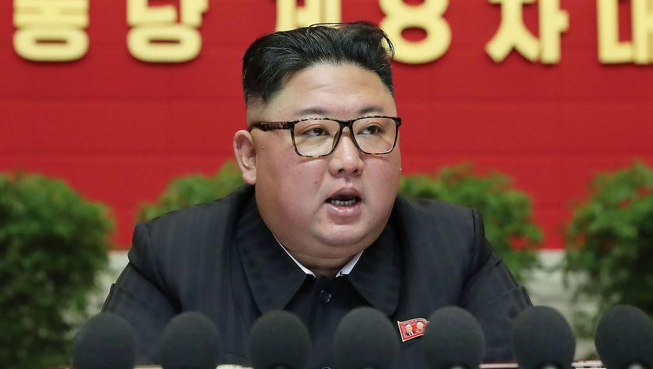Kim Jong Un auf dem Kongress seiner Partei der Arbeit