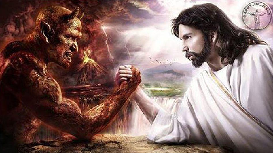 Satan vs. Jesus: Anzeige auf Facebook im US-Wahlkampf 2016