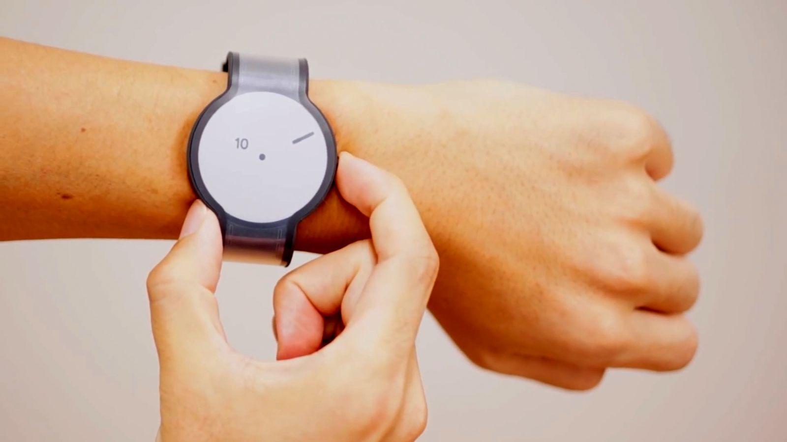 NUR ALS ZITAT Screenshot E-Ink Smartwatch FES