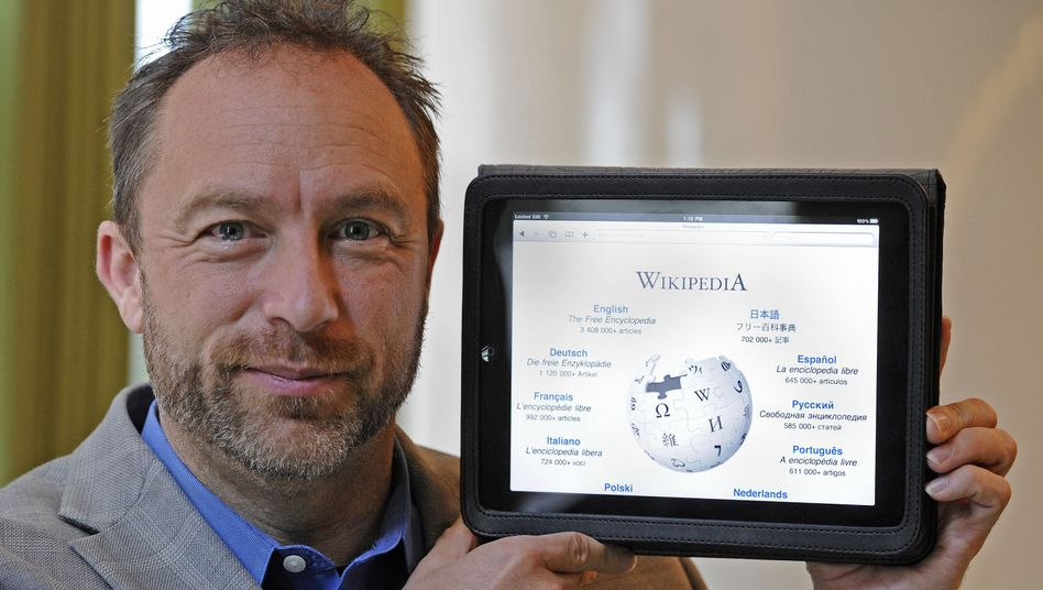 Wikipedia-Gründer Jimmy Wales, Wikipedia-Website