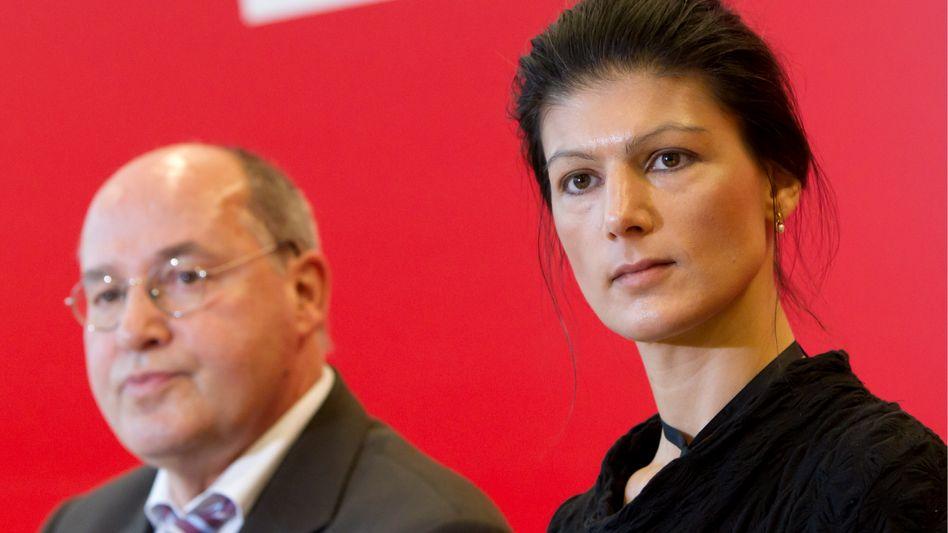 """Fraktionschef Gysi, Stellvertreterin Wagenknecht: """"Ich würde es ihr gönnen"""""""
