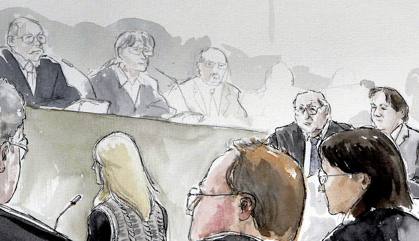 Fall Kachelmann / Gerichtzeichnung