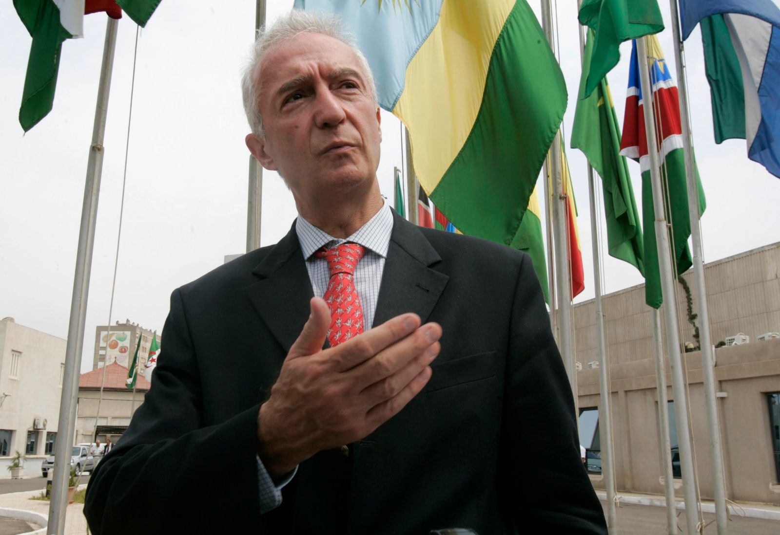 European Union's Counter-Terrorism Coordinator de Kerchove speaks during an interview with Reuters in Algiers