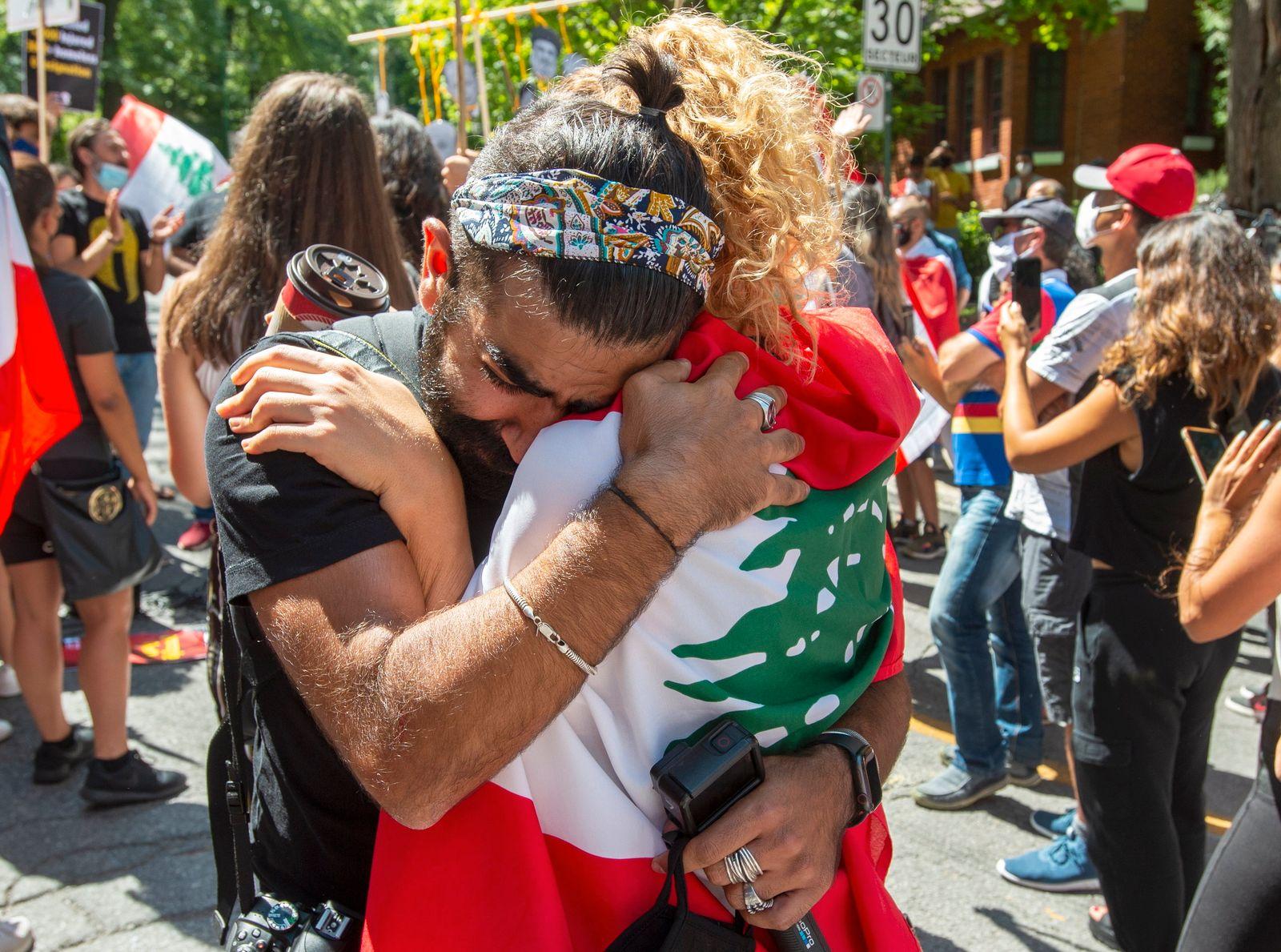 Nach der schweren Explosion in Beirut - Proteste in Kanada