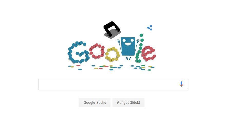EINMALIGE VERWENDUNG Google Doodle Locher
