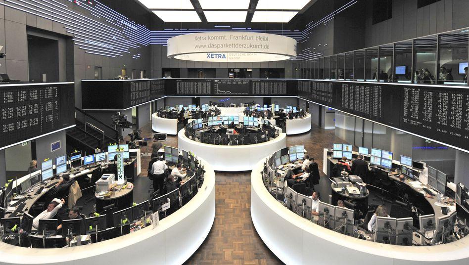 Börsenparkett in Frankfurt