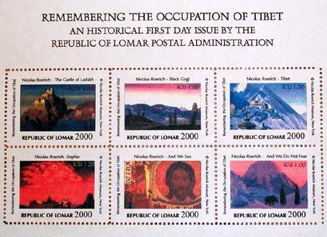 Briefmarken sind eine der Einnahmequellen der Republik Lomar