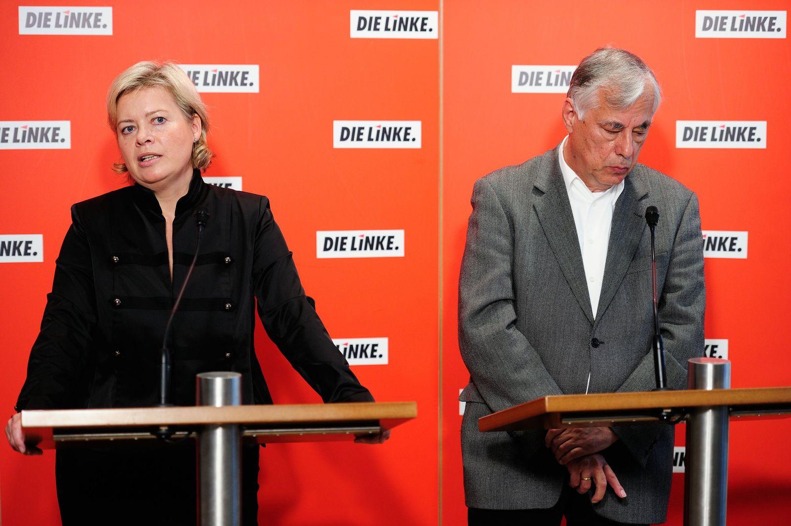 Pressekonferenz Linke - Lötzsch Dreibus