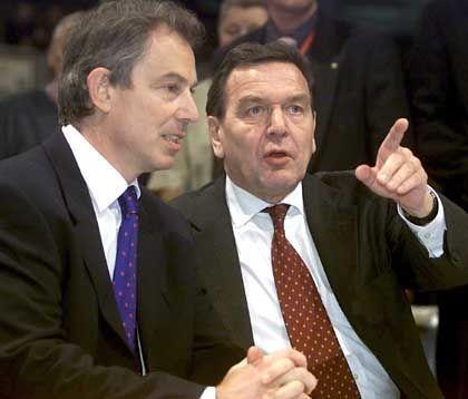 Blair und Schröder: Hier geht's lang!