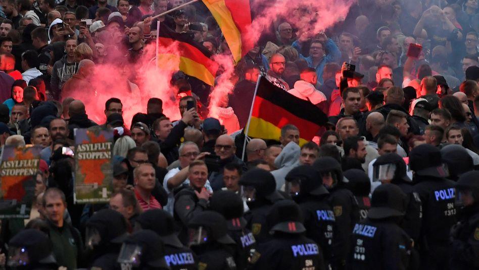 Rechte Demonstration in Chemnitz am 27. August 2018