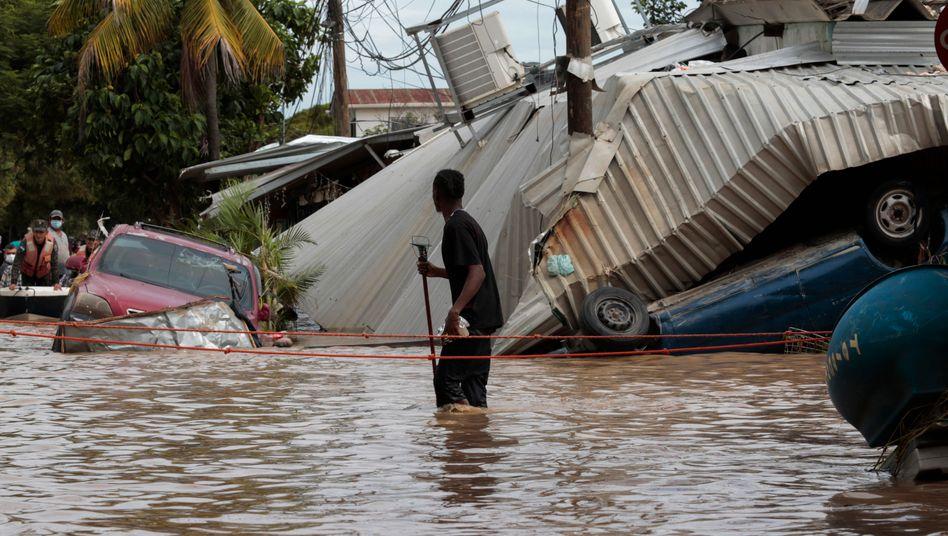 Überflutete Straßen in Honduras
