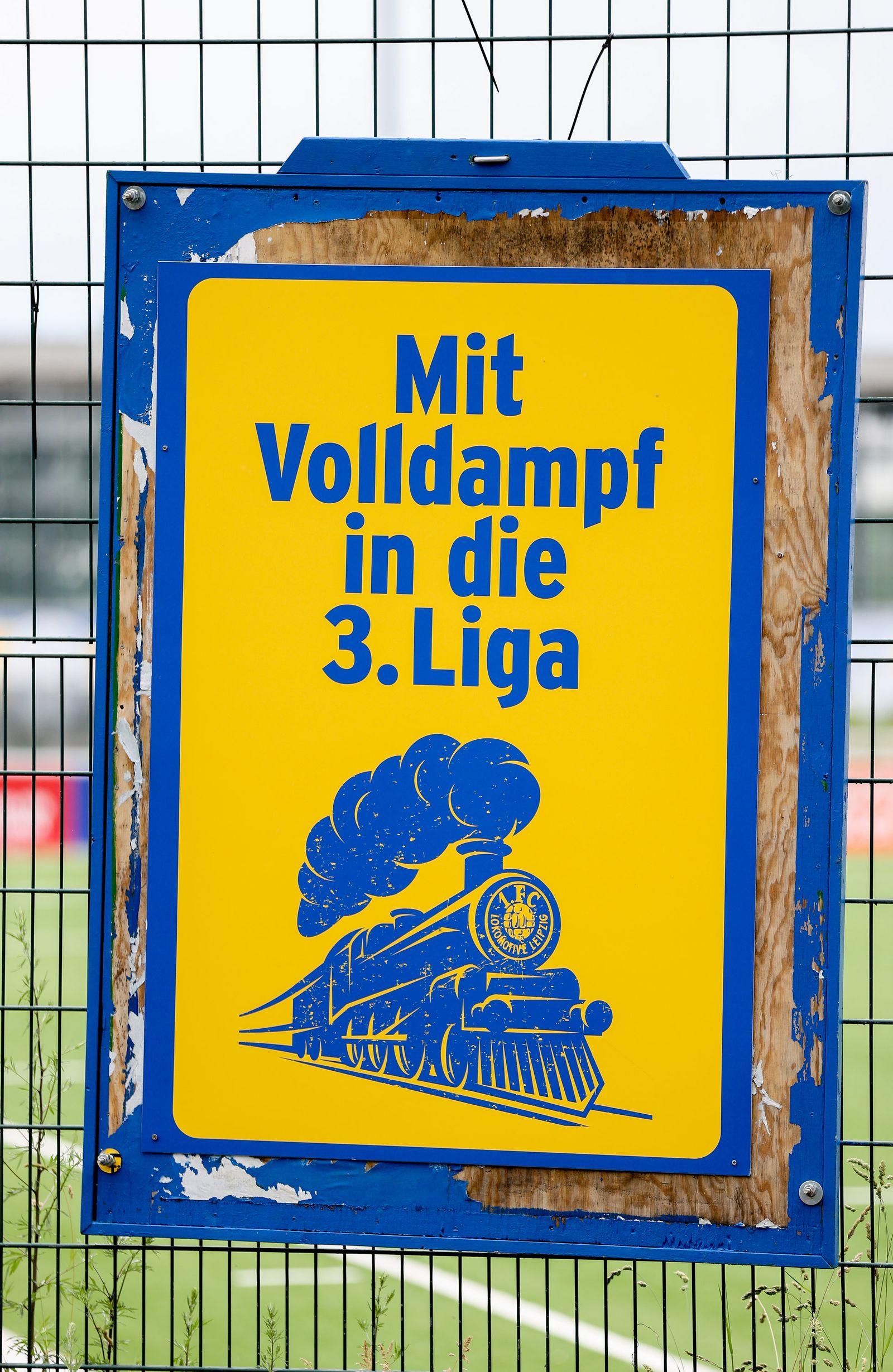 Lok Leipzig vor Relegationsspiel