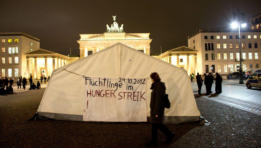 Flüchtlingscamp: Hungerstreik in Berlin