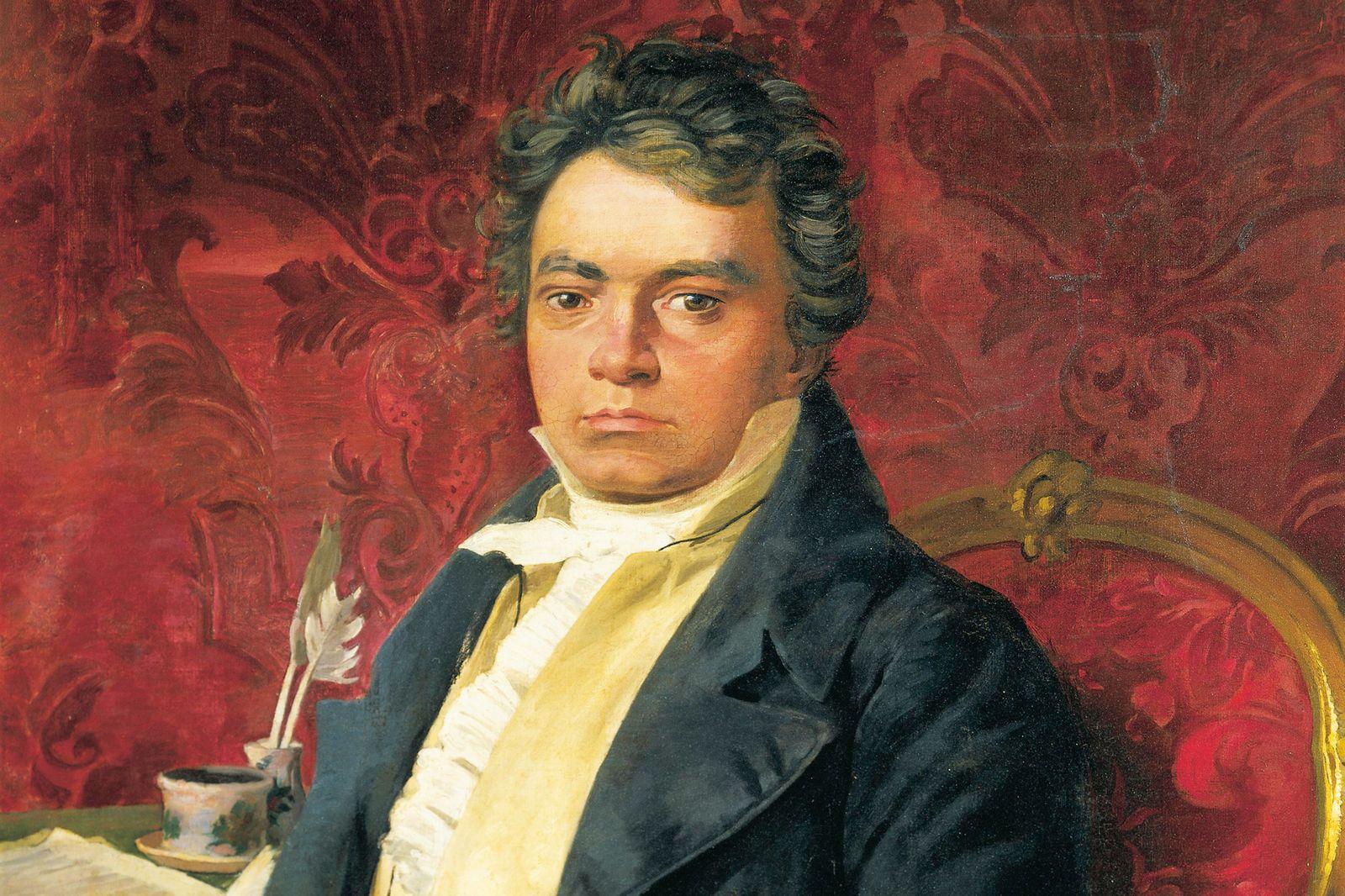 Germany, Portrait of German composer and pianist Ludwig van Beethoven
