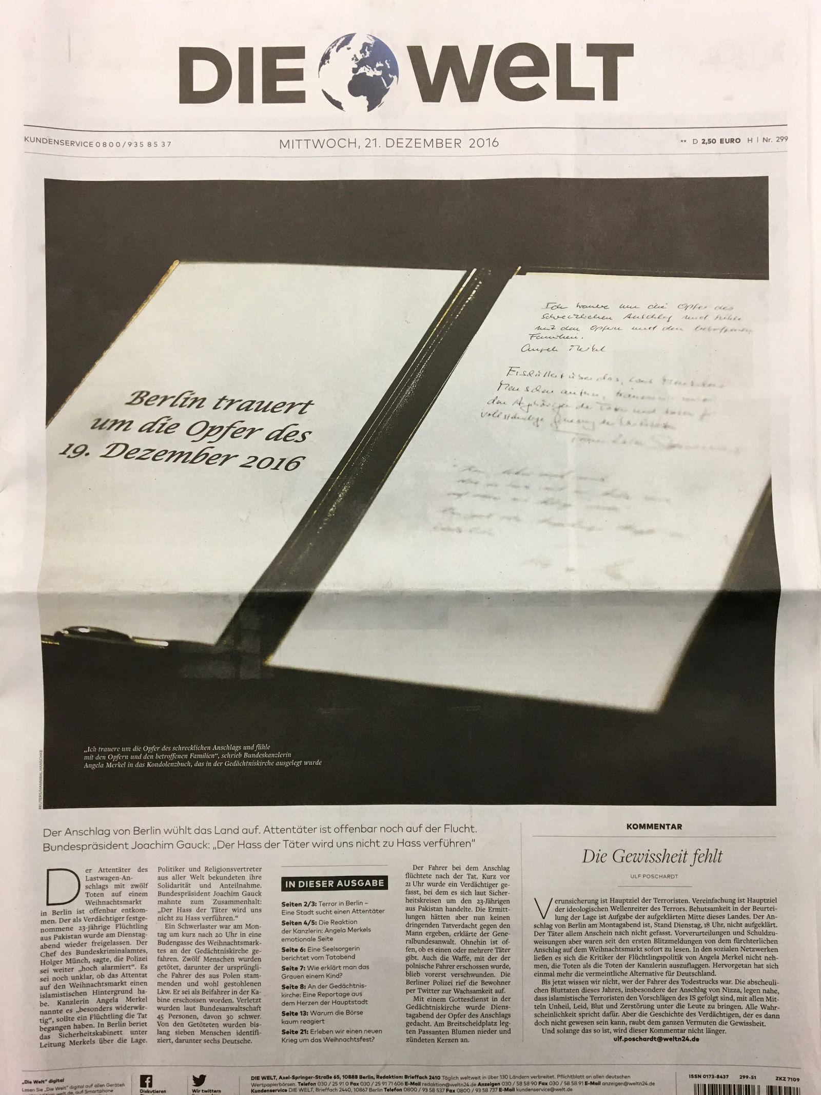 Cover Presseschau Die Welt