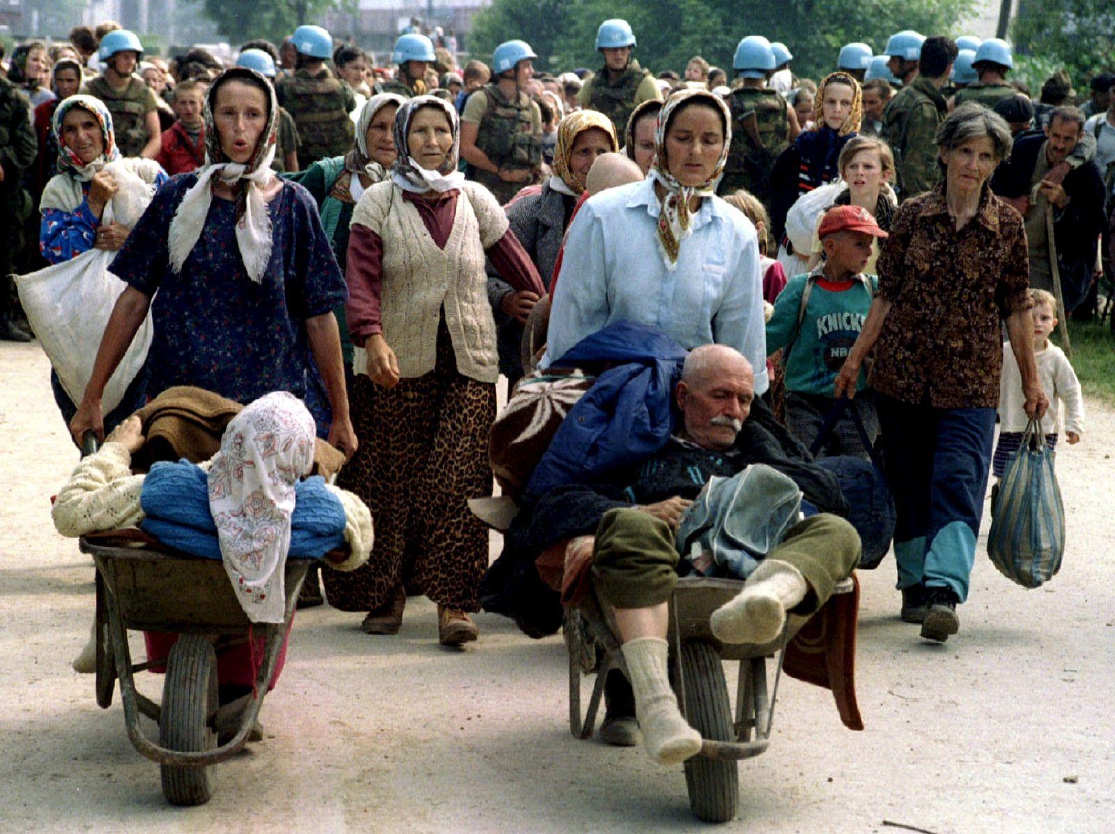 Massaker von Srebenica / Flüchtlinge