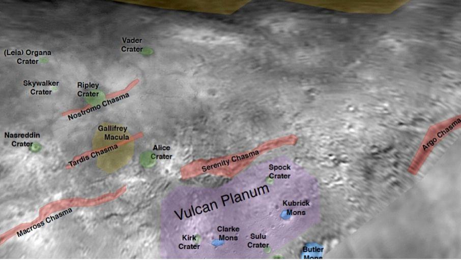 Ripley-Krater, Kubrick-Berg: Vorschläge für Landschaftsnamen auf dem Pluto-Mond Charon