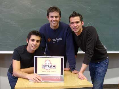 Spickmich-Gründer Tino Keller, Phillip Weisenhiller und Manuel Weisbrod: 400.000 Nutzer seit März 2007