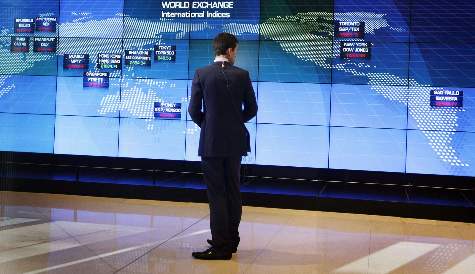 Börse Weltkarte