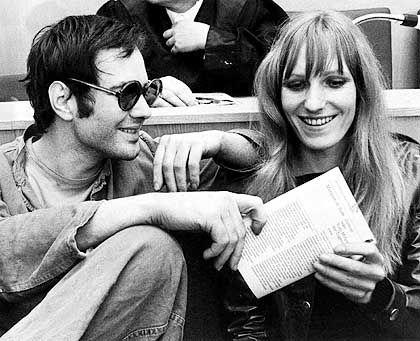 Ensslin (mit Andreas Baader, 1968 im Brandstifter-Prozess): Beschrieb ihre Zeit als Austauschschülerin