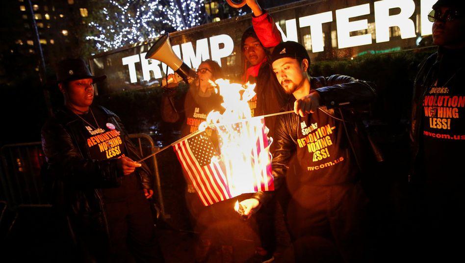 Protest gegen Trump in New York