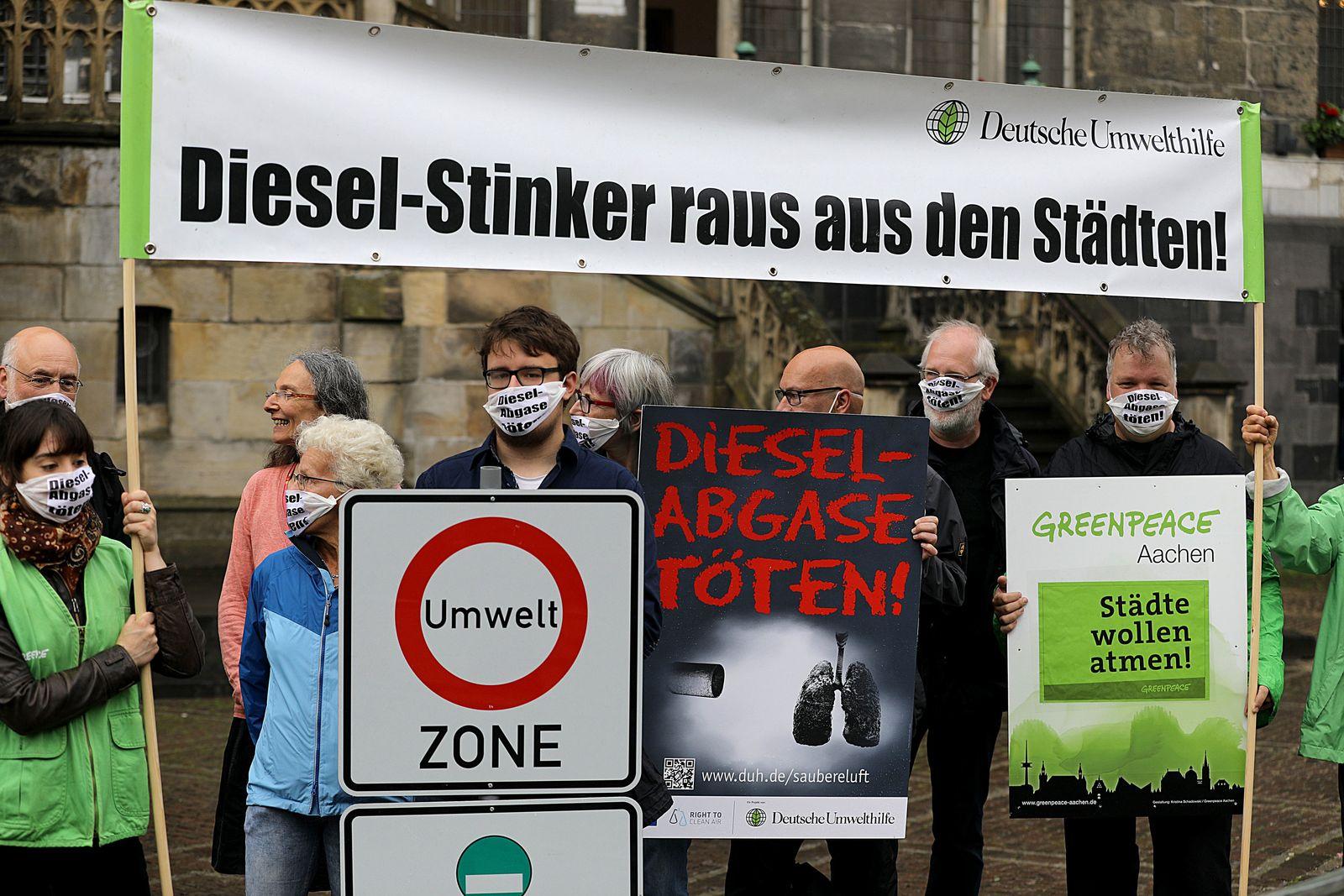 Umwelthilfe klagt für Dieselfahrverbot in Aachen