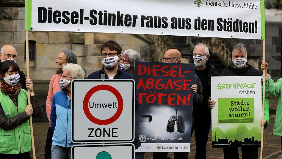 Proteste der Deutschen Umwelthilfe
