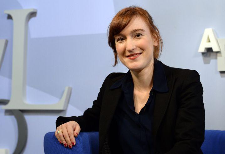 Autorin Bossong am 14. Oktober 2015 auf der Frankfurter Buchmesse